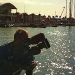 bilingual cameraman shooting for Volvo Ocean Race in Alicante, Spain.