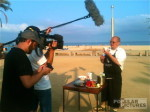 bilingual camera crew shooting in Barcelona for german broadcaster Kabel1