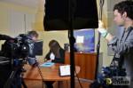 bilingual camera crew shoots corporate video in Barcelona