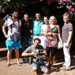 TV crew with protagonists in Marbella