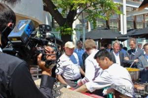 videojournalist shooting management congress in Barcelona