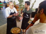 bilingual cameraman filming Paella cooking in Barcelona