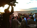 bilingual cameran covers corporate event in Barcelona