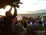 bilingual cameran covers corporate event in Barcelona