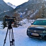 filming in the austrian alps