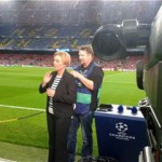 tv crew Champions League Spain