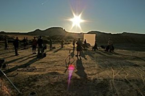 35mm music video clip production for Polydor Records in Las Bardenas, Spain