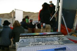 35mm production in Las Bardenas for video clip, Polydor Records