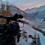 filming into an tyrolean valley