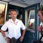 "interview with the captain of a spanish ferry for german documentary ""Lánder, Menschen, Abenteuer"""