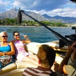 German Tv crew shooting for a new austrian reality format in Marbella, Spain